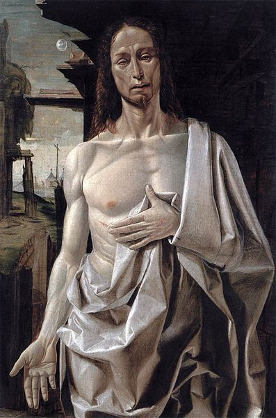 """The Risen Christ"" by Bramantino, c. 1490"