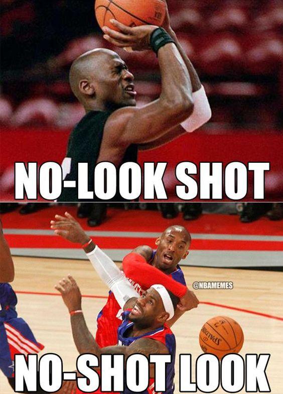 Michael Jordan vs. Kobe Bryant's Block On LeBron James. - http://nbafunnymeme.com/nba-memes/michael-jordan-vs-kobe-bryants-block-on-lebron-james