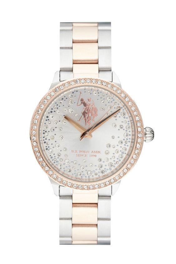 Venda U.S. Polo / 10704 / Mulher / Folheado Ouro e Aço / Relógio Quartzo Alta Precisão Folheado de Ouro Rosa e Aço