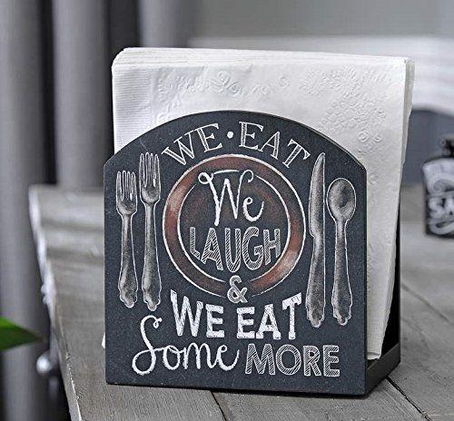 Country Chalkboard We Eat Napkin Holder Kitchen Decor Gift Craft http://www.amazon.com/dp/B00QU5MMH8/ref=cm_sw_r_pi_dp_K4omvb1RMVPH0