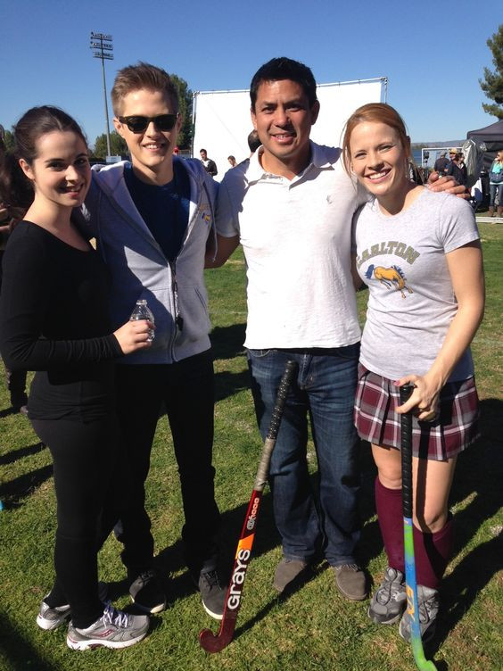 Field Hockey Heads to Hollywood: Former national team athlete Binh Hoang on the set of ABC Family's original series Switched at Birth. Catch all the field hockey action on the show beginning January 13!