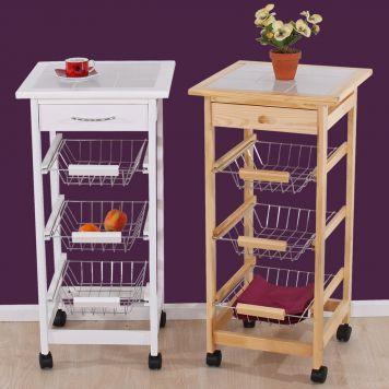 Küchenwagen Jette Servierwagen Beistelltisch Rollwagen Teewagen - küchenwagen holz massiv