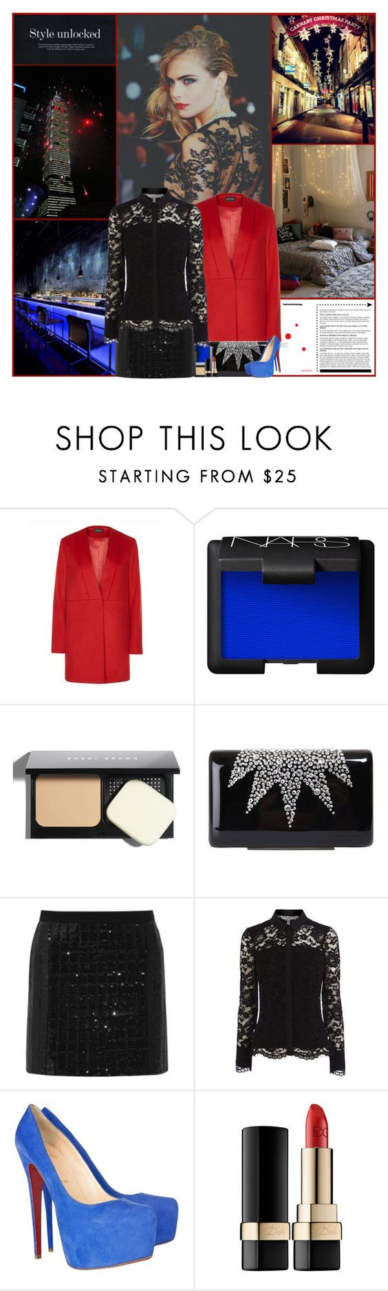 """Style Unlocked"" by kittyfantastica ❤ liked on Polyvore featuring Jaeger, NARS Cosmetics, Bobbi Brown Cosmetics, Wilbur & Gussie, Karl Lagerfeld, Coast, Christian Louboutin and Dolce&Gabbana"