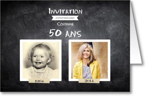 Invitation anniversaire adulte