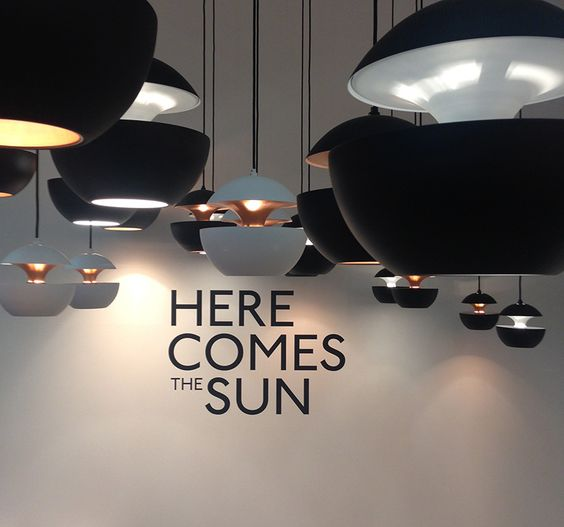 Lamp Here Comes the Sun in Stockholm fair 2