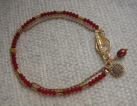 artesanias margaux: Con cristales y perla roja