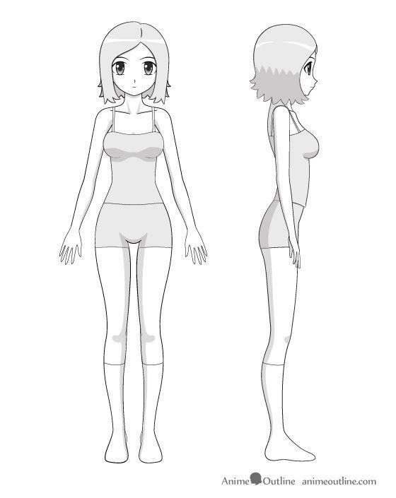 Resultado De Imagem Para How To Draw Female Full Body Dibujos De Anime Dibujos Ninos