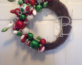 Christmas ornament wreath by ReagyLaneDesigns on Etsy