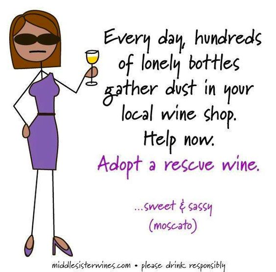 Do your part, adopt a rescue wine today!   Middle Sister Wines