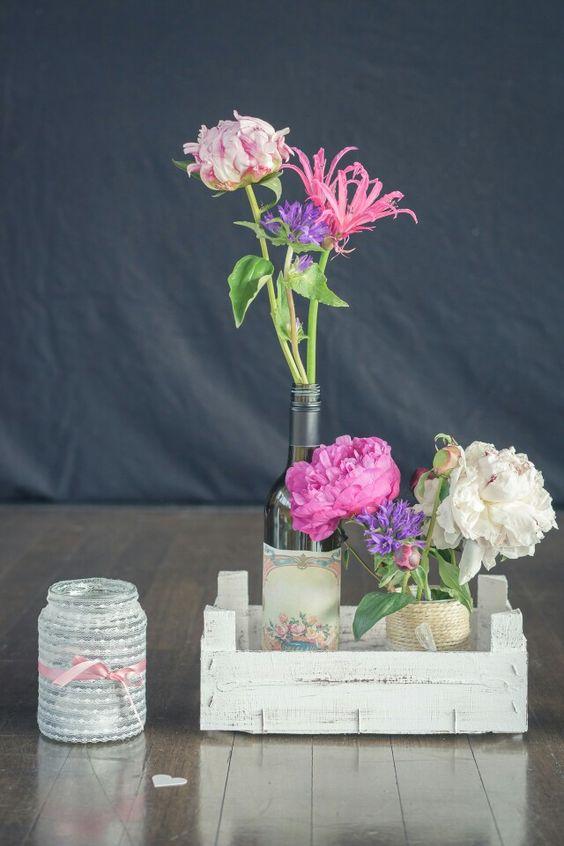 Diy and crafts vintage and hochzeit on pinterest for Pfingstrosen dekoration
