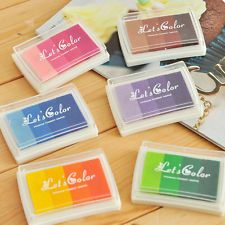 DIY 1PC Oil Based Multi Colour Ink Pad For Rubber Stamps Paper Wood Craft Fabric