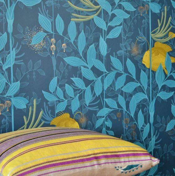 Nautilus Yellow Coastal Wallpaper Beautiful Wallpapers Wallpaper