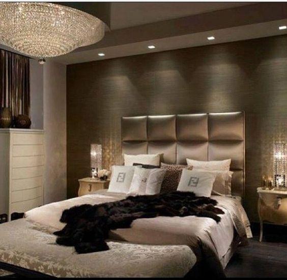 schlafzimmer inneneinrichtung ideen luxus design kronleuchter