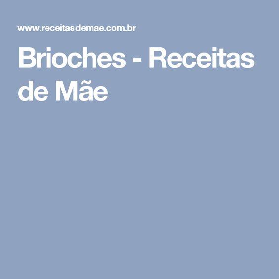 Brioches - Receitas de Mãe