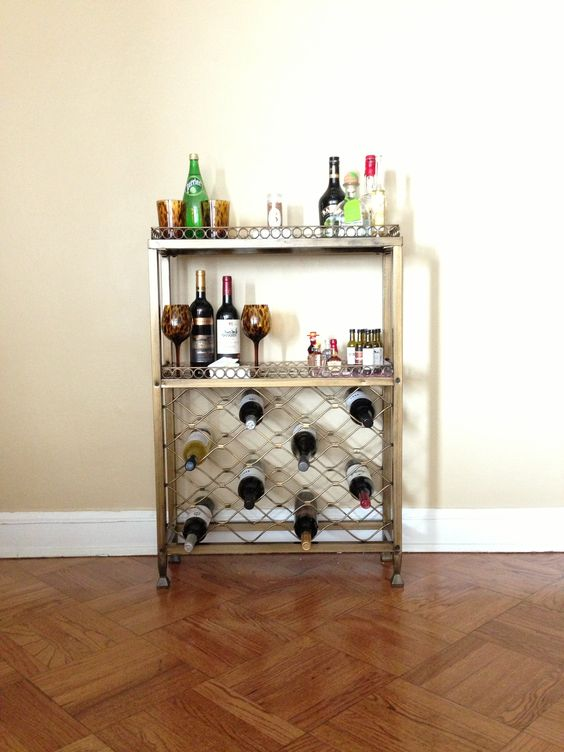My new bar cart (even Henry has a section)