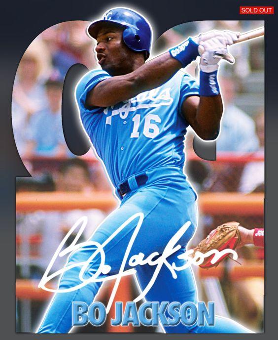 Bo Jackson Kansas City Royals Signature Series Die Cut