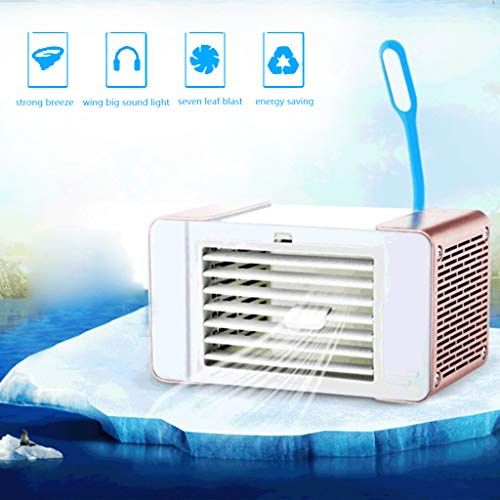 K Flame Portable Air Cooler Usb Fan With Led Light Adjustable Air