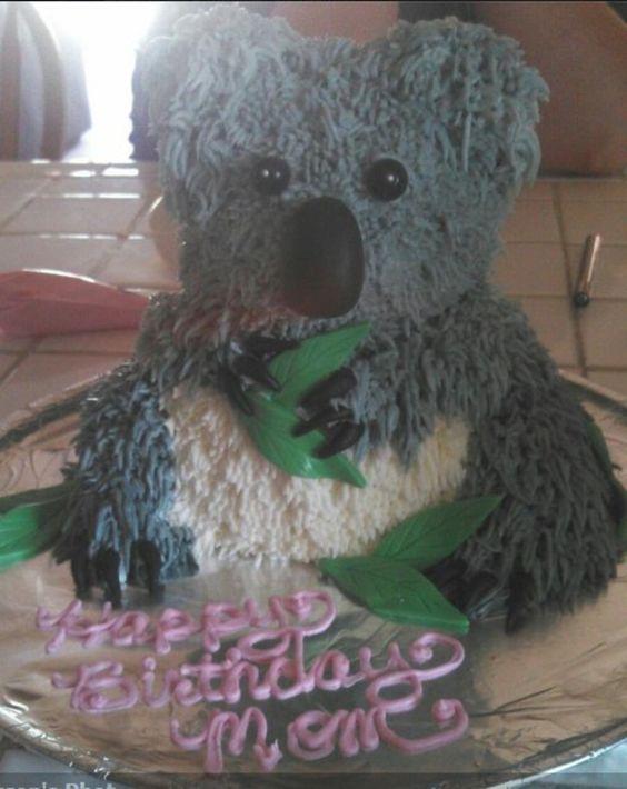 Phenomenal A Koala Bear Birthday Cake Using Wiltons 3D Teddy Bear Pan The Funny Birthday Cards Online Hetedamsfinfo