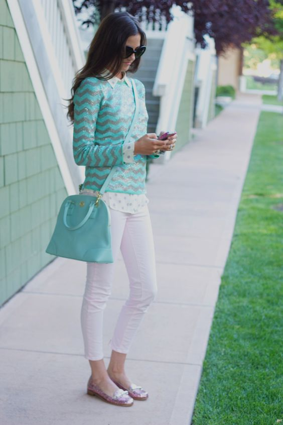 We love blogger Pink Peonies wearing our Robinson Small Dome Satchel!