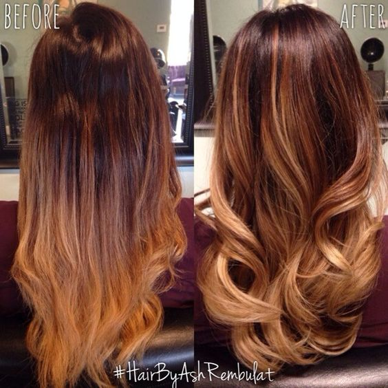 copper ombre ombre and balayage on pinterest. Black Bedroom Furniture Sets. Home Design Ideas