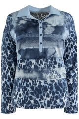 #Rabe - shirt met gemixt dessin #panterprint #luipaardprint #leopardprint #fall16 #winter17 #fashion #trends