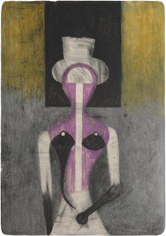 Rufino Tamayo, Mujer con Sombrero (P. 132):