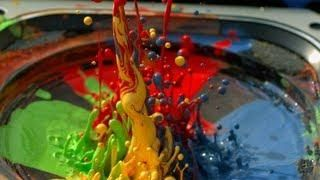 Paint On A Speaker In Slow Motion - #cool