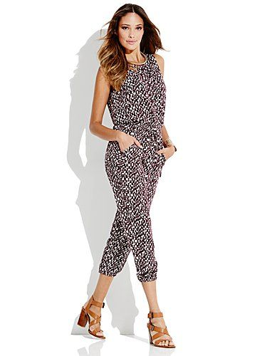 Shop Cargo Abstract-Print Jumpsuit. Find your perfect size online at the best price at New York & Company.