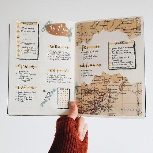 Bullet Journal en voyage