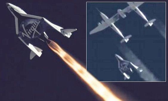 Virgin Galactic SS2 separating from the White Knight.