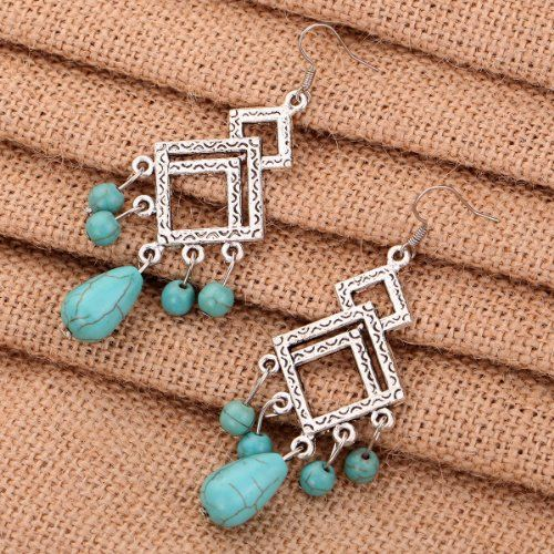 Tibetan Silver and Turquoise Earrings Just $4.15 Shipped!