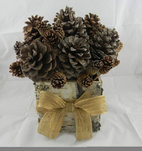 Pine cone wedding centerpieces large all natural pine for Pinecone centerpieces