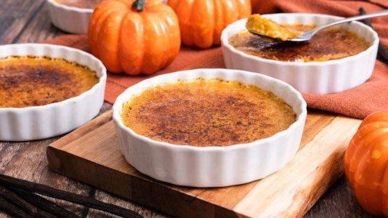 Reduced Sugar Pumpkin Creme Brulee Recipe Pumpkin Creme Brulee