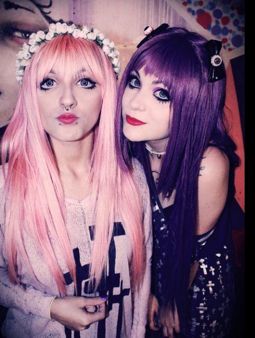 Pastel goths for halloween! ok, everyday! Lindsay & Chemical <3