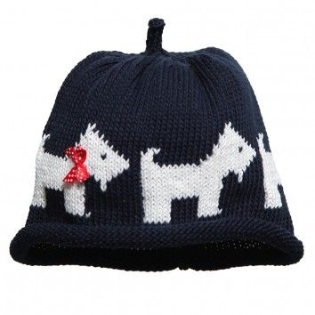 Scottie dogs, Dogs and Knitted baby hats on Pinterest