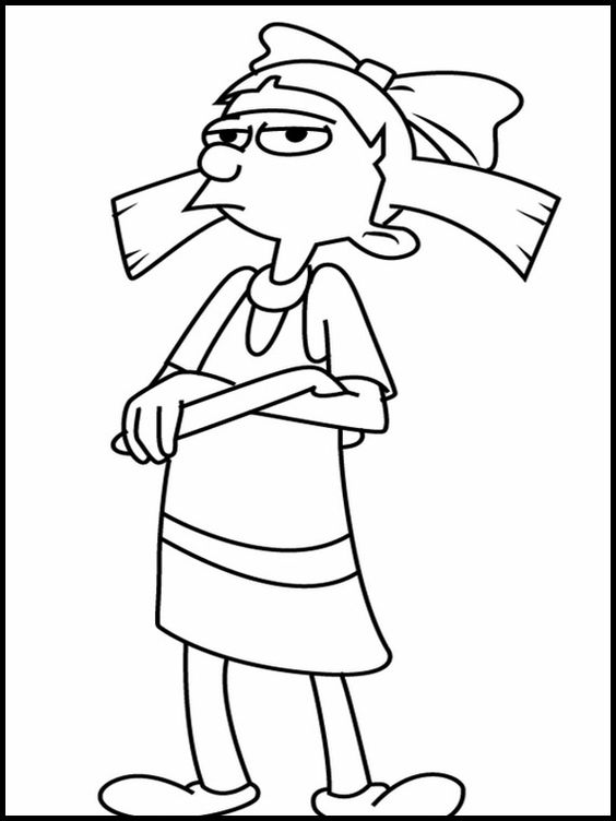 Hey Arnold 13 Printable Coloring Pages For Kids Cartoon Coloring Pages 90s Cartoons Cute Drawings