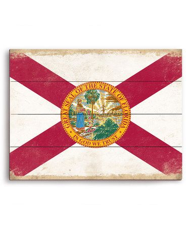 Loving this Florida State Flag Wall Art on #zulily! #zulilyfinds