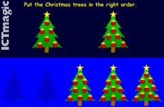Play a selection of Christmas maths games designed for younger children. Order Christmas trees, count decorations and more.