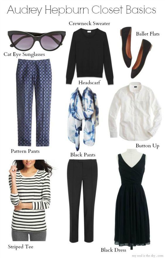 9 Closet Basics from Audrey Hepburn: