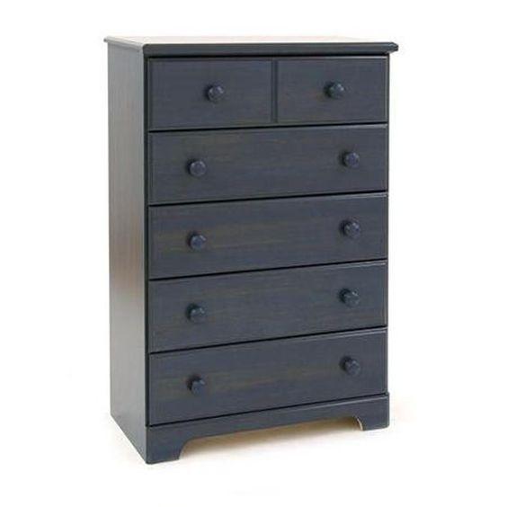 Wooden Dresser 5 Drawer Chest Clothes Storage Closet Organizer Bedroom Furniture #Modern