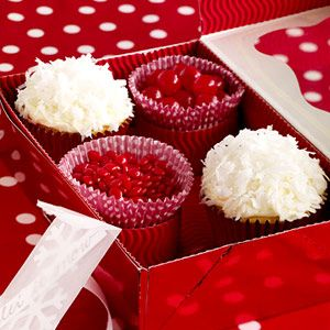 Coconut-Tangerine Snowball Cupcakes. Great DIY Homemade Christmas Food Gift!