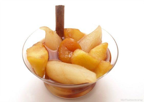Compota de manzanas y peras - MisThermorecetas.com