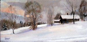 Peter Barnett, artist - Lavender Winter