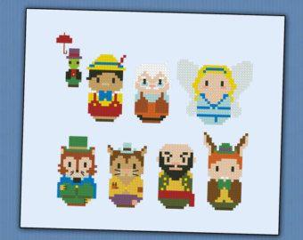 Pinocchio parody - Cross stitch PDF pattern