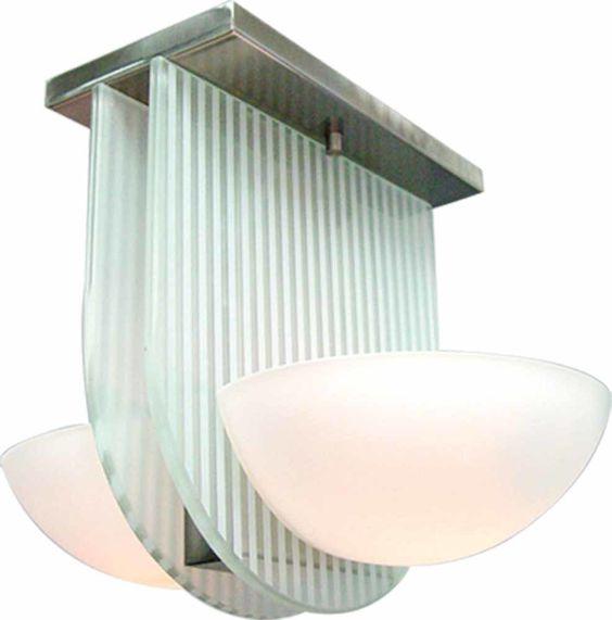 2 Light Ceiling Fixture Flush Mount
