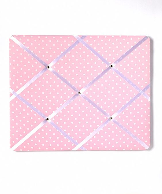 Love this Pink Polka Dot Memo Board by Beriwinkle on #zulily! #zulilyfinds