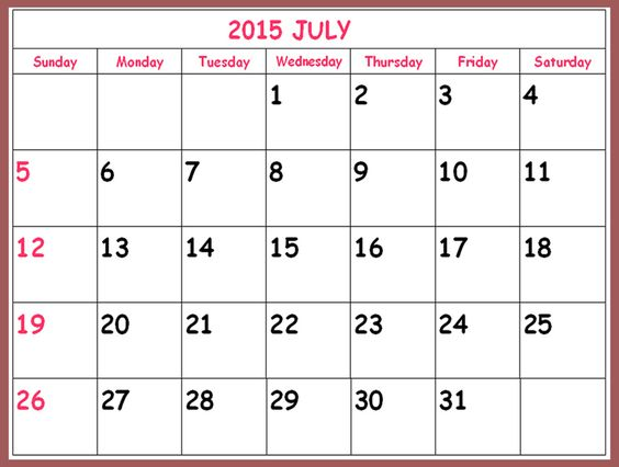 This is the month of June 2015 and we are sharing June Calendar – Word Template Calendar 2015