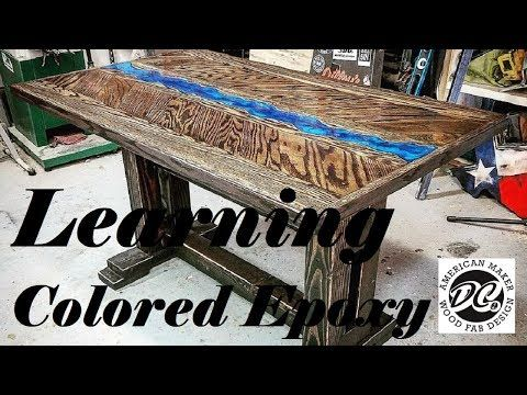 Epoxy Resin Table Top Step By Step Dual Heat Action Diy