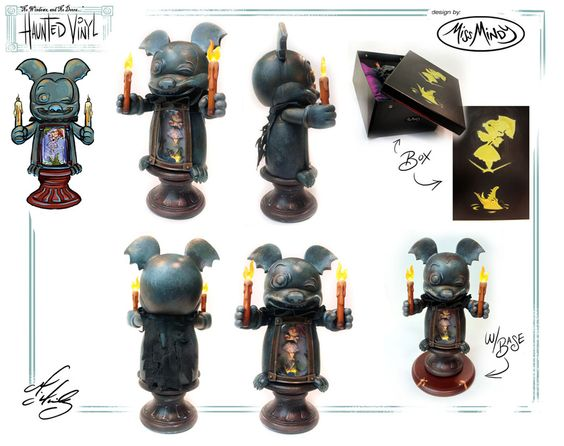 """Brand-new Haunted Mansion Vinylmation, with these based on the """"stretching room.""""  Very cool."""