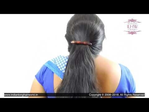 Deepa S South Indian Style Clipped High Ponytail Making